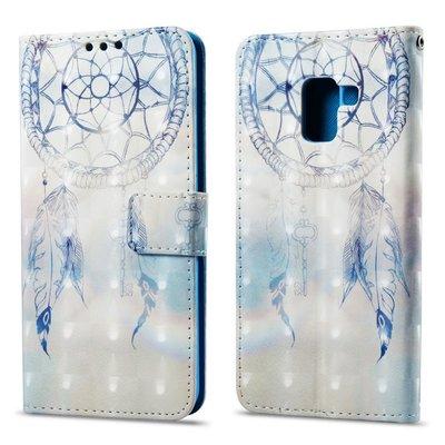 Samsung Galaxy A8 (2018) hoesje, 3-in-1 bookcase met print, blauwe dromenvanger