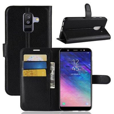 Samsung Galaxy A6+ (2018) / A6 Plus (2018) hoesje, 3-in-1 bookcase, zwart