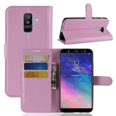 Samsung Galaxy A6+ (2018) / A6 Plus (2018) hoesje, 3-in-1 bookcase, licht roze