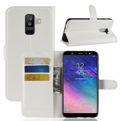 Samsung Galaxy A6+ (2018) / A6 Plus (2018) hoesje, 3-in-1 bookcase, wit