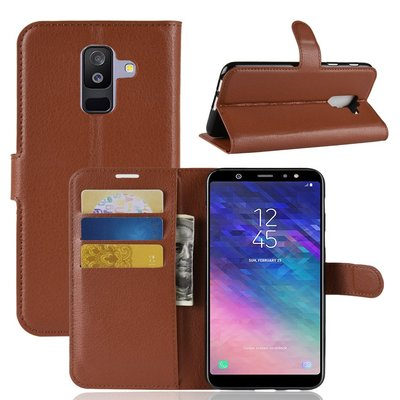 Samsung Galaxy A6+ (2018) / A6 Plus (2018) hoesje, 3-in-1 bookcase, bruin