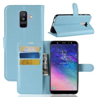 Samsung Galaxy A6+ (2018) / A6 Plus (2018) hoesje, 3-in-1 bookcase, blauw