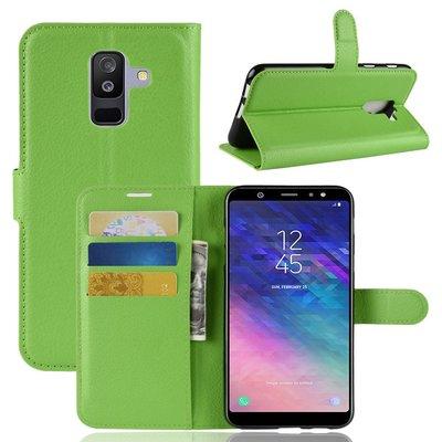 Samsung Galaxy A6+ (2018) / A6 Plus (2018) hoesje, 3-in-1 bookcase, groen