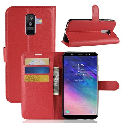 Samsung Galaxy A6+ (2018) / A6 Plus (2018) hoesje, 3-in-1 bookcase, rood