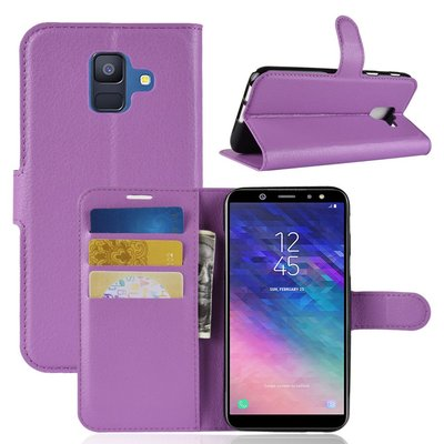 Samsung Galaxy A6+ (2018) / A6 Plus (2018) hoesje, 3-in-1 bookcase, paars