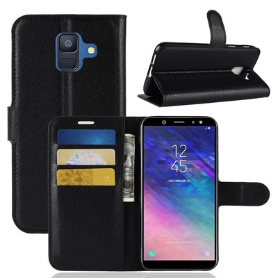 Samsung Galaxy A6 (2018) hoesje, 3-in-1 bookcase, zwart