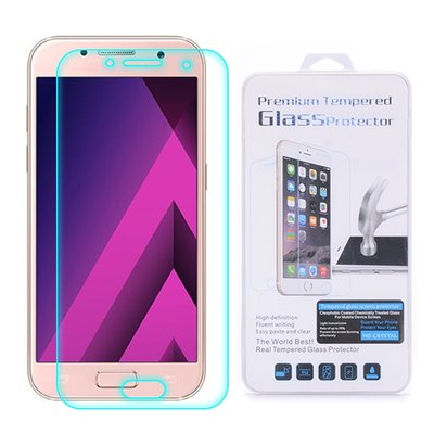Samsung Galaxy A3 (2017) screenprotector, tempered glass (glazen screenprotector)