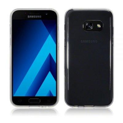 Samsung Galaxy A3 (2017) hoesje, gel case, doorzichtig grijs