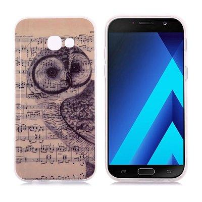 Samsung Galaxy A3 (2017) hoesje, gel case met print, muziek uil