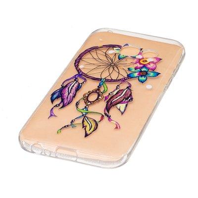 Samsung Galaxy A3 (2017) hoesje, gel case doorzichtig met print, dromenvanger