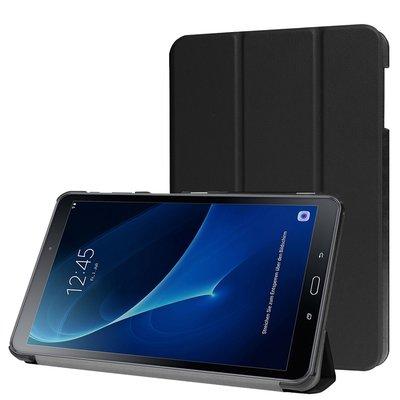 Samsung Galaxy Tab A[6] 10.1 / Tab A 10.1 inch hoes, tri-fold case, zwart