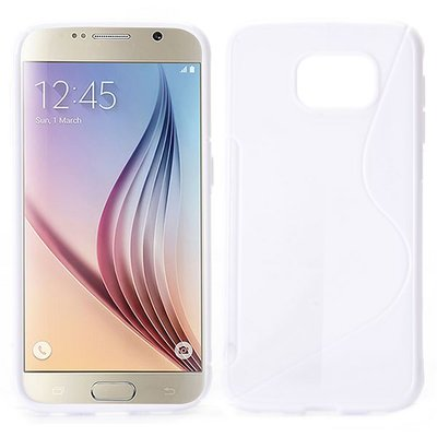Samsung Galaxy S6 hoesje, gel case, s-line wit
