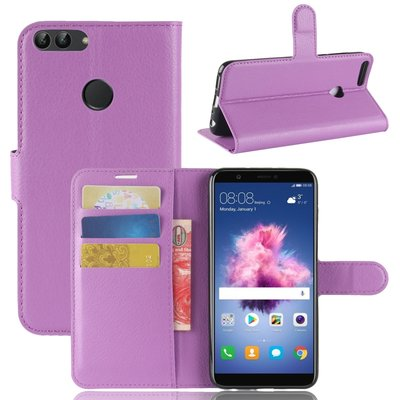 Huawei P Smart hoesje, 3-in-1 bookcase, paars