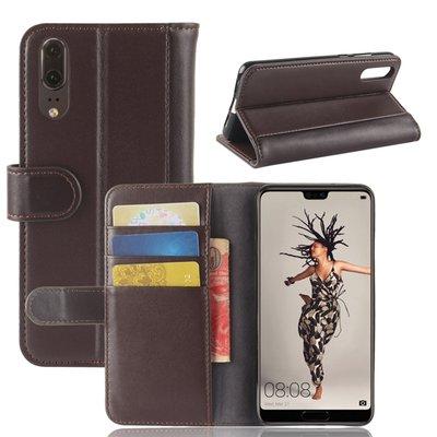 Huawei P20 hoesje, 3-in-1 luxe bookcase, bruin