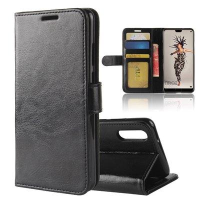 Huawei P20 hoesje, 3-in-1 bookcase, zwart