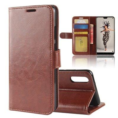 Huawei P20 hoesje, 3-in-1 bookcase, bruin