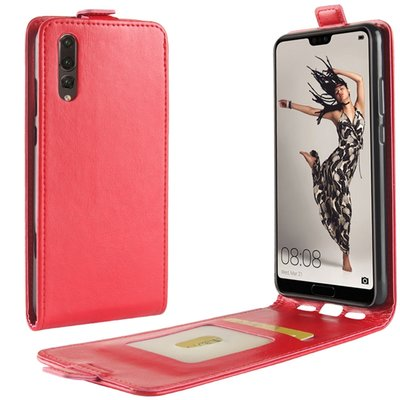 Huawei P20 hoesje, flipcase, rood