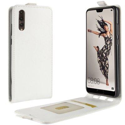 Huawei P20 hoesje, flipcase, wit