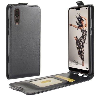 Huawei P20 hoesje, flipcase, zwart