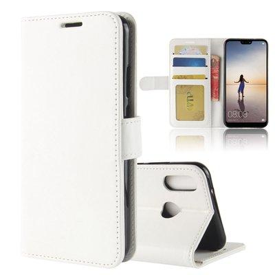 Huawei P20 Lite hoesje, 3-in-1 bookcase, wit
