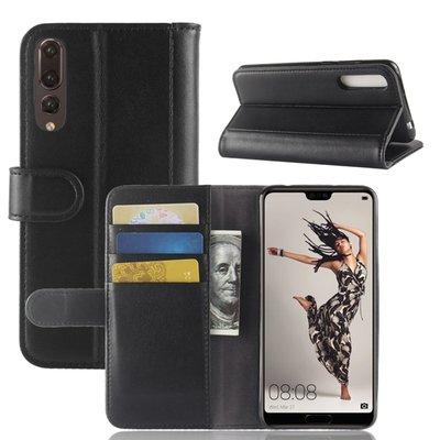 Huawei P20 Pro hoesje, 3-in-1 luxe bookcase, zwart
