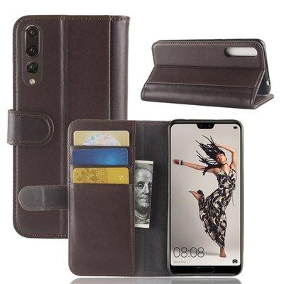 Huawei P20 Pro hoesje, 3-in-1 luxe bookcase, bruin