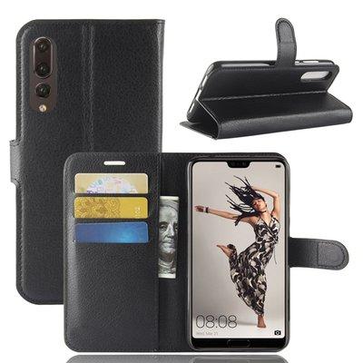 Huawei P20 Pro hoesje, 3-in-1 bookcase, zwart