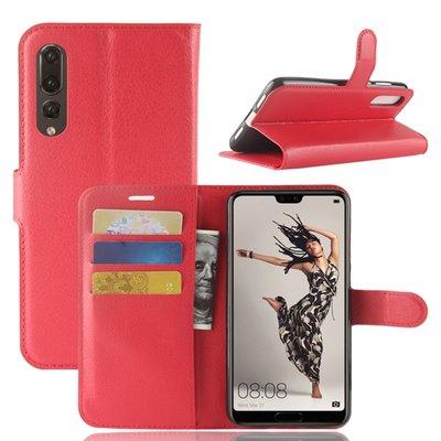 Huawei P20 Pro hoesje, 3-in-1 bookcase, rood