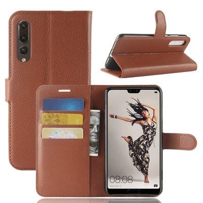 Huawei P20 Pro hoesje, 3-in-1 bookcase, bruin