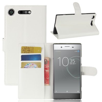 Sony Xperia XZ1 hoesje, 3-in-1 bookcase, wit