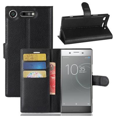 Sony Xperia XZ1 hoesje, 3-in-1 bookcase, zwart