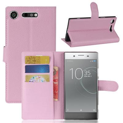 Sony Xperia XZ1 hoesje, 3-in-1 bookcase, licht roze