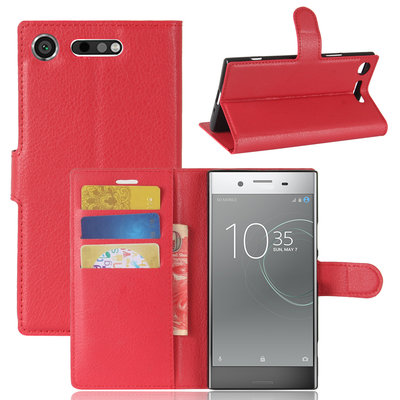 Sony Xperia XZ1 hoesje, 3-in-1 bookcase, rood