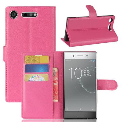 Sony Xperia XZ1 hoesje, 3-in-1 bookcase, roze
