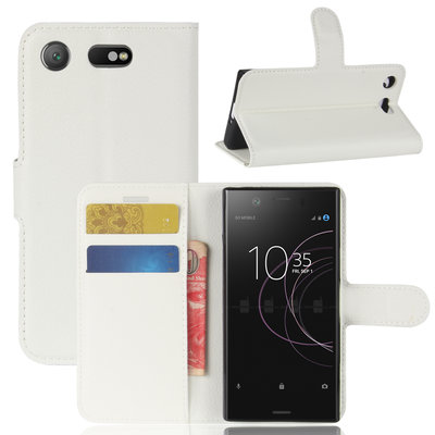 Sony Xperia XZ1 Compact hoesje, 3-in-1 bookcase, wit