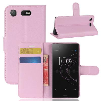 Sony Xperia XZ1 Compact hoesje, 3-in-1 bookcase, licht roze