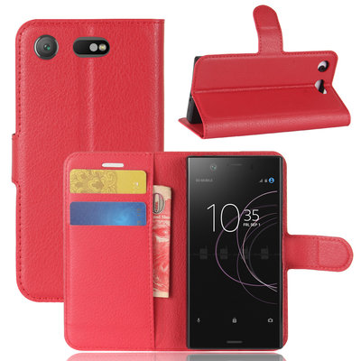 Sony Xperia XZ1 Compact hoesje, 3-in-1 bookcase, rood