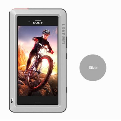 Sony Xperia XZ1 Compact hoes, Love Mei, metalen extreme protection case, zwart-grijs