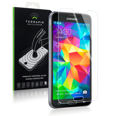Samsung Galaxy S5 screenprotector, tempered glass (glazen screenprotector)