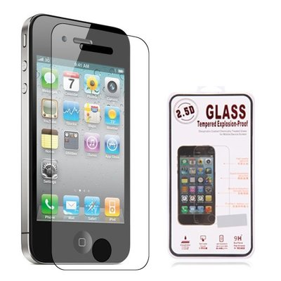 Apple iPhone 4 screenprotector, tempered glass (glazen screenprotector)