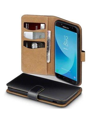 Samsung Galaxy J3 (2017) hoesje, 3-in-1 bookcase, zwart-bruin
