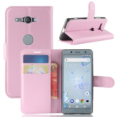 Sony Xperia XZ2 Compact hoesje, 3-in-1 bookcase, licht roze