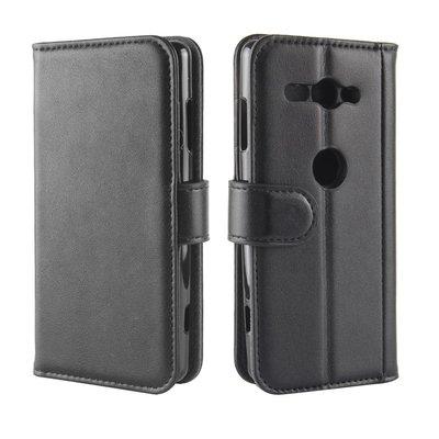 Sony Xperia XZ2 Compact hoesje, 3-in-1 luxe bookcase, zwart