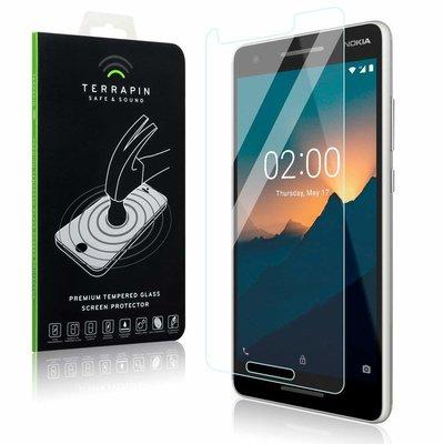 Nokia 2.1 (2018) screenprotector, tempered glass (glazen screenprotector)