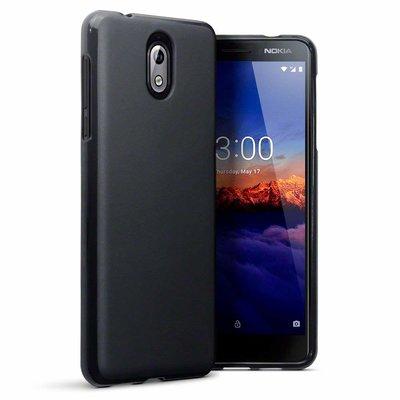 Nokia 3.1 (2018) hoesje, gel case, mat zwart
