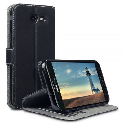 Samsung Galaxy J3 (2017) hoesje, 3-in-1 bookcase extra dun, zwart