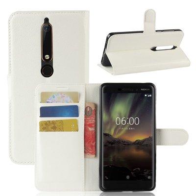 Nokia 6.1 (2018) hoesje, 3-in-1 bookcase, wit