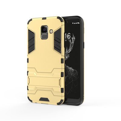 Samsung Galaxy A6 (2018) hoesje, extreme protection hardcase met standaard, goud