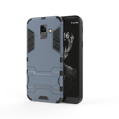 Samsung Galaxy A6 (2018) hoesje, extreme protection hardcase met standaard, navy blauw