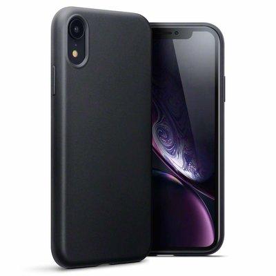 Apple iPhone XR hoesje, gel case, mat zwart